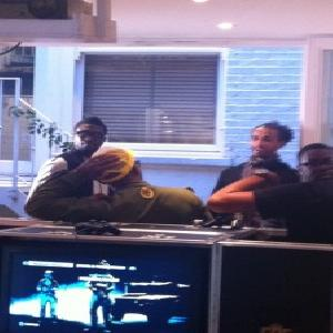 Ade With Ekotto and Bassong at Spurs Lodge